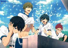 Free To Use Anime Wallpaper Anime W, Fanarts Anime, I Love Anime, Anime Guys, Watercolor Wallpaper Iphone, Iphone Wallpaper Fall, Wallpaper Wallpapers, Geek House, Swimming Anime