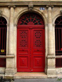 Door, Boulevard Montmartre, Paris by j.labrado, via Flickr