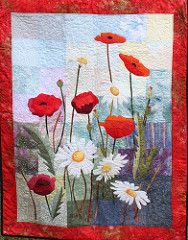 """""""Poppies and Daisies"""" by Moira Byrne   by Irish Patchwork Society"""