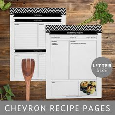 Recipe Binder Pages, Printable and Customizable DIY Templates, Editable PDF…                                                                                                                                                                                 More