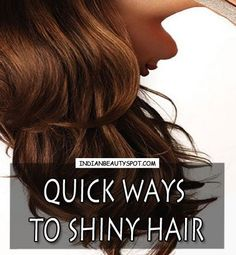 shiny hair tips