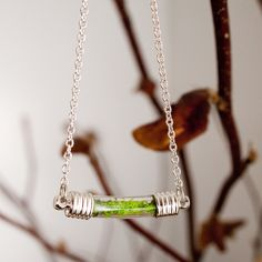 Live garden necklace
