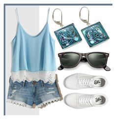 """Summer Lace"" by avagoldworks ❤ liked on Polyvore featuring Vans, Hollister Co., Chicwish, Ray-Ban and avagoldworks"