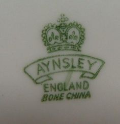 dating aynsley marks Learn about aynsley china aynsley china ltd is a british manufacturer of bone china tableware, giftware, handpainted figurines and animals and commemorative items.