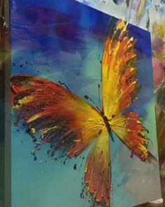Abstract Painting Idea In 2020 Butterfly Abstract Art Painting by Asdam Art Butterfly Painting, Butterfly Art, Painting Videos, Painting Techniques, Painting Art, Abstract Art Paintings, Hawaii Painting, Bird Paintings On Canvas, Canvas Painting Tutorials