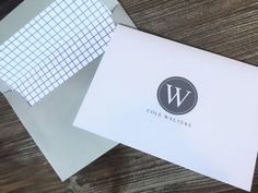 Masculine Notecards and lined envelopes