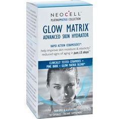 $19.47 - NeoCell Laboratories Advanced Skin Hydrator - Glow Matrix - Platinum Matrix - 90 Capsules - Glow Matrix provides scientifically advanced ingredients designed to internally hydrate the skin. This premium formula supports the skin's lipid barrier which helps to lock in moisture and smooth the skin. Like all NeoCell products, Glow Matrix is standardized to be both bioavailable and bioactive for maximum absorption and efficacy.