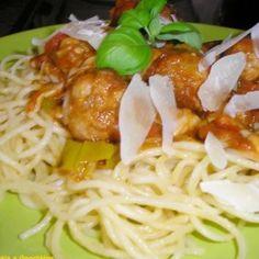 Szicíliai húsgombócok spagettivel