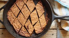 """The original recipe for these buttery, basic toffee bars belongs to Maida Heatter, the great American dessert maven of the 20th century It was adapted for a cast-iron skillet by Charlotte Druckman, who wrote a book on cast-iron baking in 2016 """"You can caramelize a crust in cast iron in a way that would never happen in a sheet pan,"""" she said"""