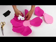 DIY Paper Flower Tutorial using Template #9 - YouTube