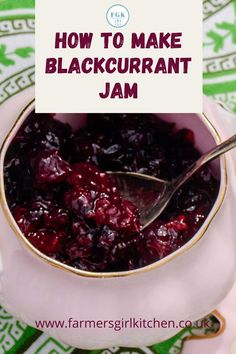 Blackcurrant Jam is one of the easiest jams you can make. Blackcurrants are naturally high in pectin which is the agent required to make the jam set. You don't need to add any additional pectin or lemon juice in this recipe, just blackcurrants, water, and sugar. #blackcurrant #jam #recipe #easy