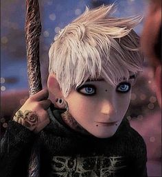 I know this is Dreamworks not Disney, but it works. And I just love Jack Frost. Goth Disney, Disney Punk Edits, Punk Disney Characters, Disney Pixar, Punk Disney Princesses, Dark Disney, Disney And Dreamworks, Disney Art, Twisted Princesses