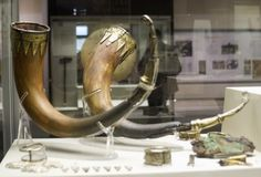 Viking Horns from the Sutton Hoe burial, British Museum. London, 9 February 2008