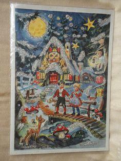 alter  Adventskalender Märchen Hänsel & Gretel ca Din A4