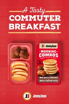 Off to work? Then try new Jimmy Dean Morning Combos for your morning commute. We took your breakfast favorites and made them bite size so you can enjoy them on the go. Breakfast Recipes, Snack Recipes, Dinner Recipes, Cooking Recipes, Breakfast Ideas, Jimmy Dean, Vegetarian Recipes, Healthy Recipes, Pulled Pork Recipes