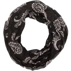 Charlotte Russe Paisley Print Infinity Scarf and other apparel, accessories and trends. Browse and shop related looks.