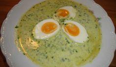 LCHF-Spenatsoppa med ägghalvor - GOE - Recept