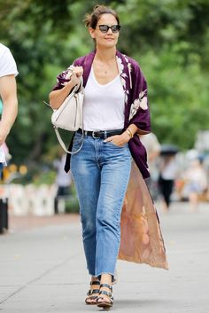 Katie Holmes's Chicest Street Style Looks - July 23, 2017 from InStyle.com
