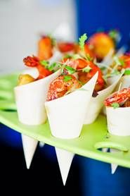 Seafood cocktail cones