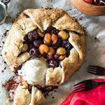 Im still on my cherry kick You could call this an unofficial CherryWeek on the blogwhich now Im thinking I might host next year Anyone interestedAnyhoo this Cherry Almond Galette is a gorgeous way to show off your my favorite summer fruit A rustic flaky buttery sugarkissed almond pastry stuffed full of balsamic glazed cherries a scoop of ice cream is all you need for this to be a truly perfect dessert Grab the recipe link in my profilegalette cherries desserttime abmfoodie bakinglove food...