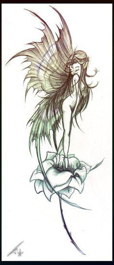 Fairy Tattoo by *j3nov4 on
