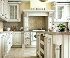 antique white kitchen cabinets ideas about antique kitchen cabinets on antique white kitchen cabinets paint color.Old Metal Kitchen Cabinets Value Low Cost Kitchens Rubber Flooring Vintage Look Linoleum Styles Lovely… Antique White Cabinets, Antique Kitchen Cabinets, Country Kitchen Cabinets, Kitchen Cabinet Design, White Cupboards, Kitchen Island, Kitchen Vanity, Cream Cabinets, Farmhouse Cabinets