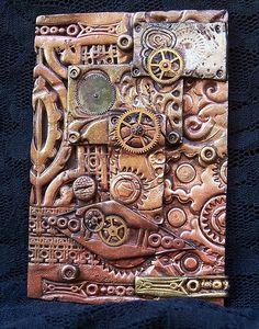 Polymer Clay ACEO Steampunk by Valeriana Solaris, via Flickr