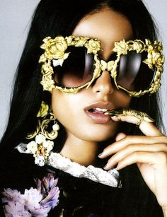 Collectors Love Love Love MERCURA NYC Eyewear & Bo: Please! Magazine Fall Winter 2012 Features Art to Wear Visionary Sunsational Mercura NYC Golden Girl Rose Sunglasses