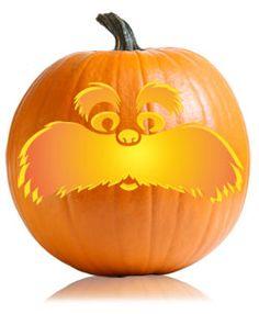 Lorax Pumpkin Carving Pattern
