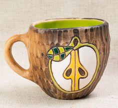 #Handmade  #cup #apple