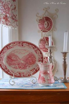 beautiful platter and pitcher