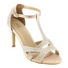 Bella Marie Women's Metallic Heels