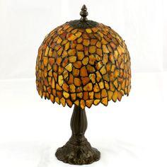 Beautiful amber lamp from Poland.  www.waldexambersilber.pl