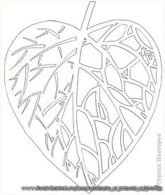 Discussion on LiveInternet - Russian Service Online Diaries Paper Flower Patterns, Paper Cutting Patterns, Paper Flowers, Kirigami Templates, Fall Coloring Pages, Stencil Printing, Paper Cut Design, Stamp Carving, Leaf Template