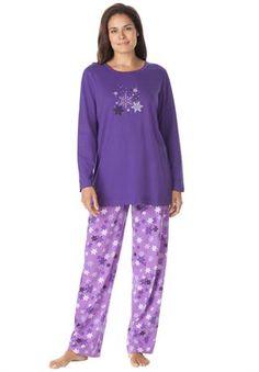 Winter print knit pjs by Dreams & Co.®