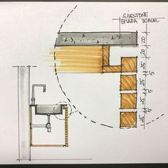 cricut home decor projects Architecture Details, Interior Architecture, Küchen Design, House Design, Joinery Details, Detailed Drawings, Bathroom Colors, Bathroom Ideas, Bathroom Interior