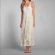 Abercrombie boho lace dress M Excellent condition Abercrombie & Fitch Dresses Midi