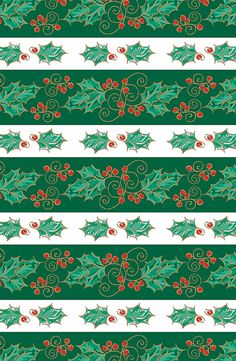 Our festive Holly Days gift wrap!  #Holly #Christmas #Paper