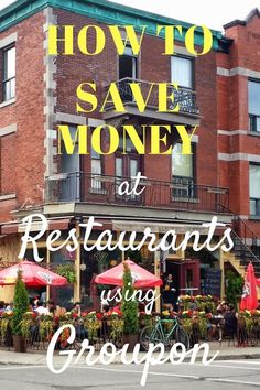 If you are spending lots of money every month paying your Restaurant Checks, you might want to know these money saving tips. You will eat more often at your favorite Restaurants when you discover how easy is to save money using Groupon. #moneysavingtips #