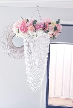 Floral chandelier lightshade Floral Chandelier, Glass Vase, Homemade, Elegant, House, Beautiful, Home Decor, Classy, Decoration Home