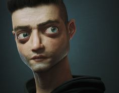 [image] Title: Elliot Name: Victor Hugo Queiroz Country: Brazil Software: max Octane Render Photoshop Substance Painter Submitted: November 2016 Damn, it's been a while…! Last month I made a sketch of Rami… 3d Model Character, Character Modeling, Character Art, Character Design, 3d Modeling, Victor Hugo, 3ds Max, Mr Robot, Modelos 3d