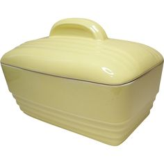 Vintage Hall China Company - Canary Yellow Westinghouse Casserole  vintage american pottery @rubylanecom #vintagebeginshere