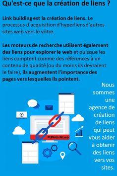 Les moteurs de recherche utilisent des liens pour explorer le web ; ils explorent à la fois les liens entre les différentes pages de votre site web et les liens entre des sites web entiers, et puisque les liens comptent comme des références à un contenu de qualité (ou du moins ils devraient le faire), ils augmentent l'importance des pages vers lesquelles ils pointent. Page Web, Explorer, Comme, Link, Bar Chart, Creations, Integers