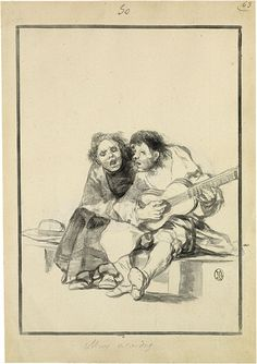 FRANCISCO GOYA inkwash drawings
