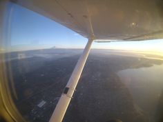 Looking out toward Maple Valley and Mt. Rainier on a great winter day! #Flying #MapleValley