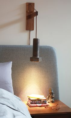 This unique industrial ceramic and wood bolt wall sconce compliments the design of any room. Comes complete and ready to install with a cord mounted on/off switch. Height and length are adjustable. Wall mount is made from solid Walnut. Unique Home Decor, Wall Sconces, Wall Mount, Compliments, Cord, Wall Lights, Industrial, Sculpture, Ceramics