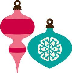 Silhouette Design Store 2 Vintage Christmas Ornaments Christmas Ornaments Retro Ornaments Vintage Christmas
