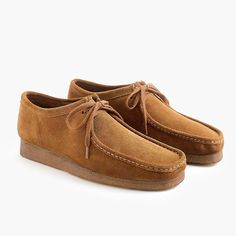 Shop the Clarks Originals Wallabee shoes in suede at J.Crew and see the entire selection of Men's Footwear. Clarks Originals, The Originals, Crew Clothing, Your Shoes, Moccasins, J Crew, Christian Louboutin, Take That, Product Launch