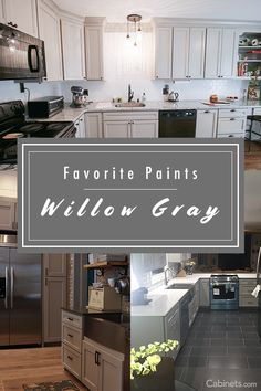 Willow gray is one of our favorite cabinet paints! It makes any feel fresh. Gray Cabinets, Diy Kitchen Cabinets, Painting Kitchen Cabinets, Kitchen Quotes, Grey Paint, Updated Kitchen, Cabinet Doors, Utah, Kitchens
