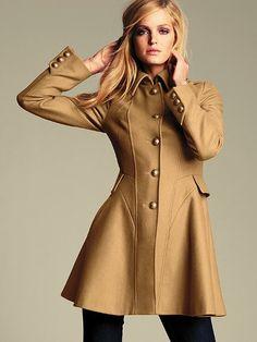 Wool Flare Coat #VictoriasSecret http://www.victoriassecret.com/clothing/all-coats-and-jackets/wool-flare-coat?ProductID=27074=OLS?cm_mmc=pinterest-_-product-_-x-_-x